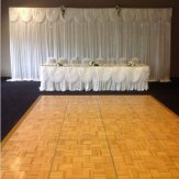 Silk Backdrop Curtain with swags (6m x 3m) White