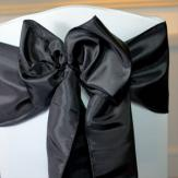 Black Taffeta Sashes