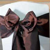Chocolate Taffeta Sashes