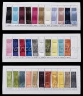 Taffeta Sashes Colour Chart Sample Book