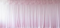 Silk Backdrop Curtain with swags (4m wide x 5m drop) White