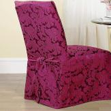 Dining/Hotel Damask Cover, white, black or burgundy