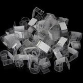50pcs Plastic Velcro Table Skirt Skirting Clips 3-4.5cm Wedding