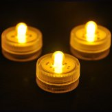 Submersible Waterproof Battery LED Tea Lights-Warm Light