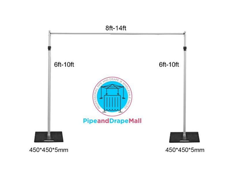 Telescopic 3M HIGHx 4M WIDE Backdrop stand, Pipe and Drape system -(10FT X 14FT)