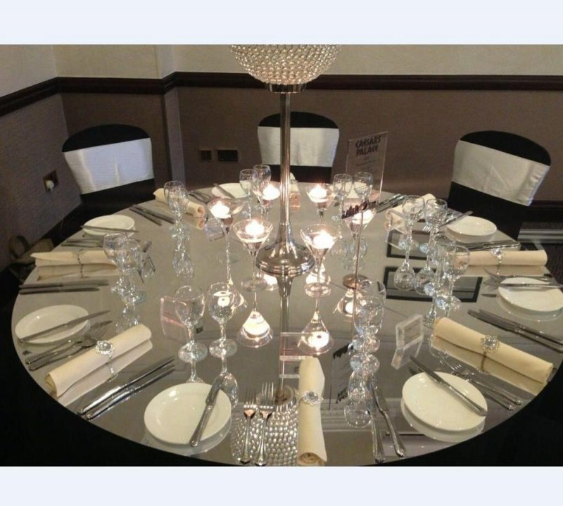 Wedding Rounded Acrylic Mirror Table, 72 Inch Round Mirror Table Top