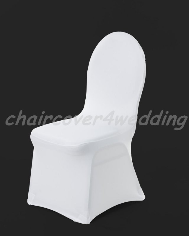 Lycra Spandex Covers White Flat Front -190gsm