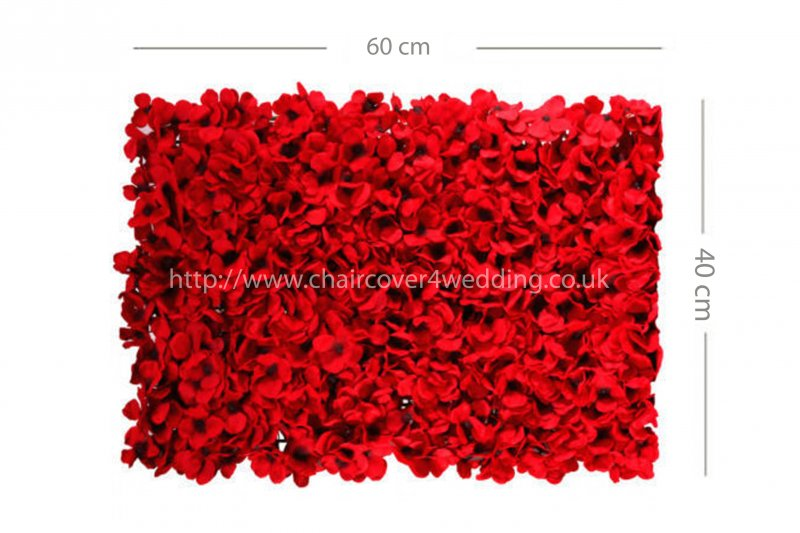Wedding Flower Wall Backdrop Panels for Sale 60cmx40cm-Red