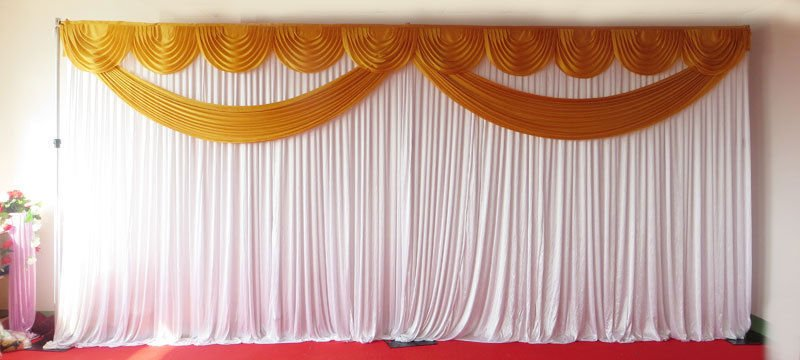 gold butterfly backdrop curtain with stand sandra chair. Black Bedroom Furniture Sets. Home Design Ideas