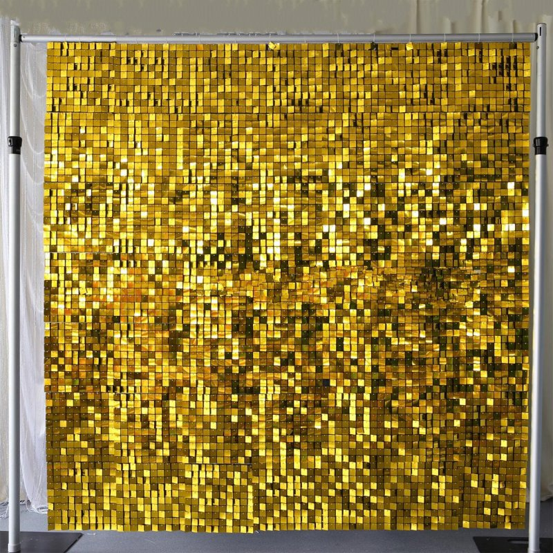 SEQUIN WALL PANEL 30cm X 30cm SQUARE SEQUINS GOLD