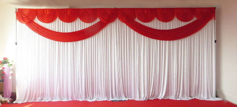 Red Butterfly Backdrop Curtain