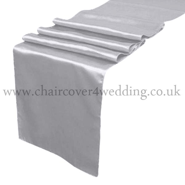 Light Silver Satin Runner