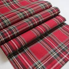 Red Stewart Tartan Table runners