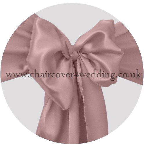 Mauve Satin Sashes