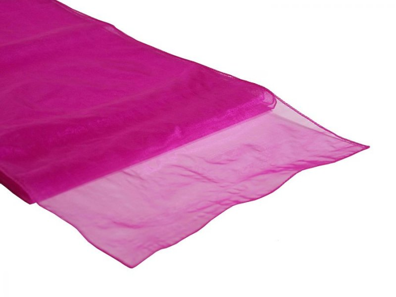Organza Table Runner Fuchsia