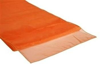 Organza Table Runner Orange