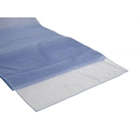 Organza Table Runner Periwinkle