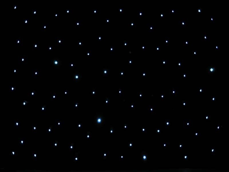 20ft Black LED Starlight Backdrop Curtain for Wedding