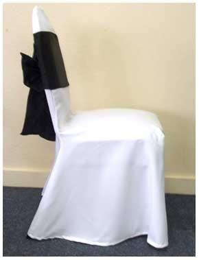 Large Banquet Chair Covers Polyester without pleats