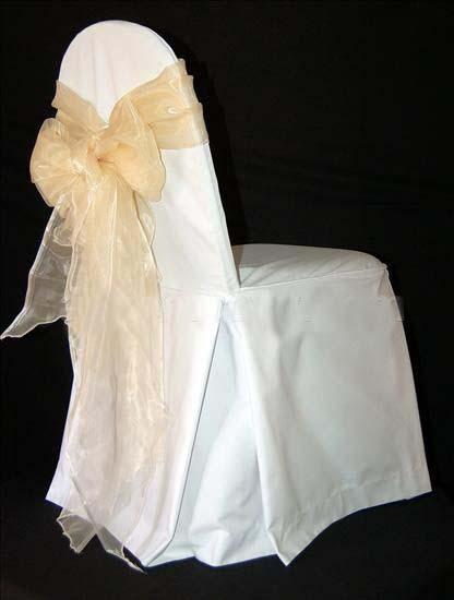 Large Polyester Banquet Chair Covers with Pleats