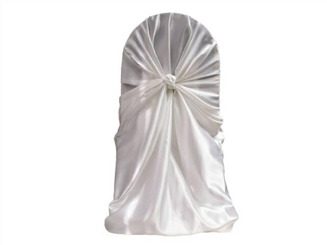 SELF TIE SATIN CHAIR COVERS