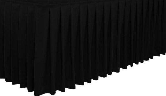 BLACK BOX PLEAT TABLE SKIRT 21Foot (12 Person)