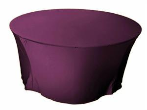 Eggplant Round Spandex Tablecloth -6 foot