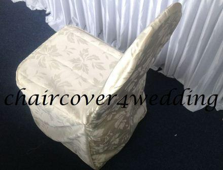 Ivy Leaf Polyester Chair Cover Ivory