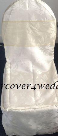 Ivy Leaf Polyester Chair Cover White