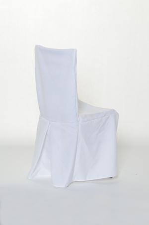 Cheltenham Chair Covers White with pleats (Back Center Pleats)