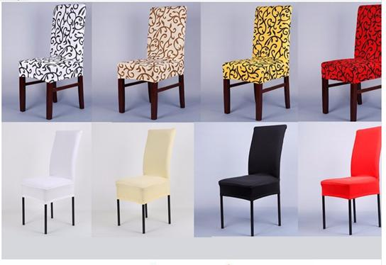 Patterned Short Skirt Dining chair covers