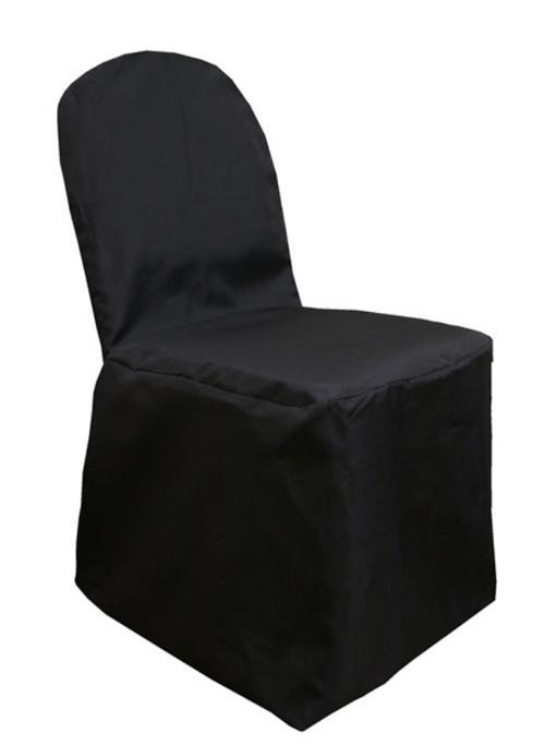 Polyester Banquet Chair Cover Black