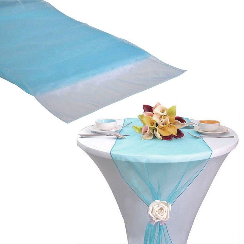 Organza Table Runner Torquoise